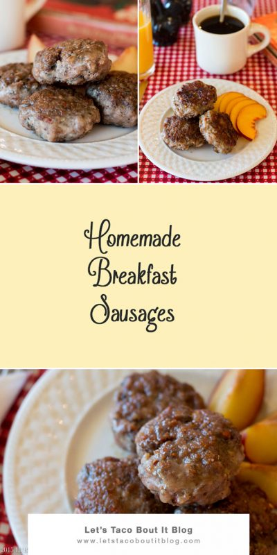 Homemade Breakfast Sausages