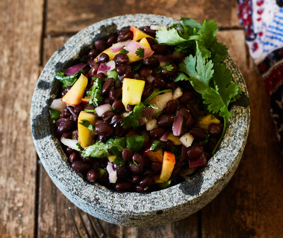 Caribbean Black Bean & Peach Salad