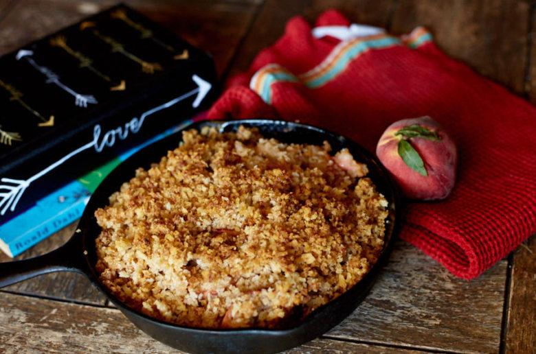 Brandied Peach Cobbler - Let's Taco Bout It Blog