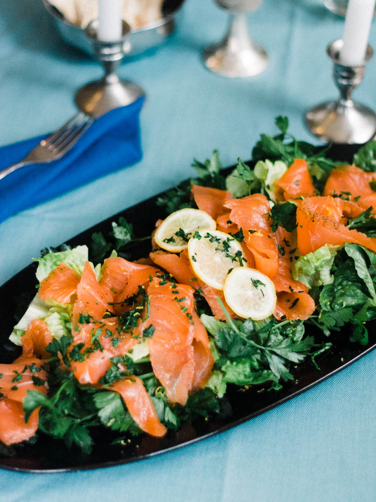 Homemade Lox and Parsley Salad