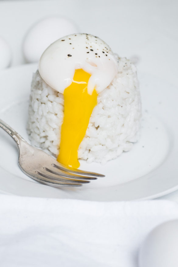 Poached Eggs on Ginger Coconut Rice